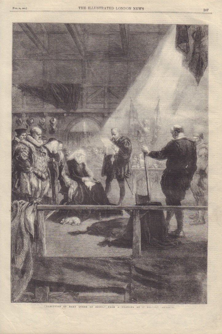 """Execution of Mary Queen of Scots,"" From a Drawing by J. Gilbert, 1861"