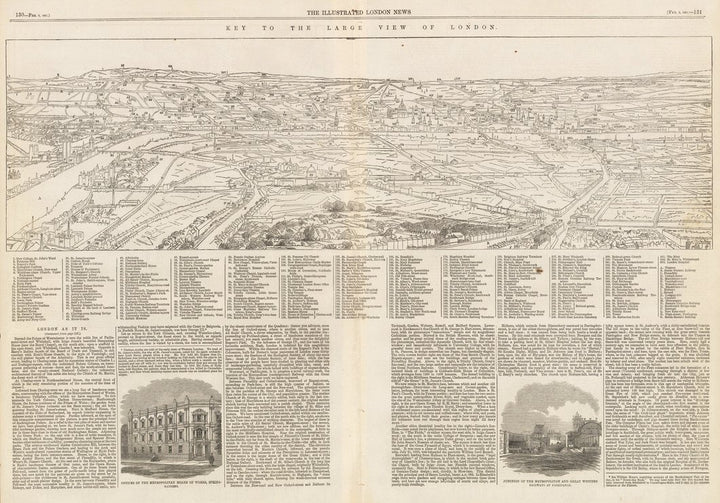 Key To The Large View of London by: London Illustrated News, 1861