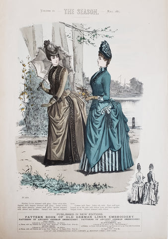 1887 The Season Volume VI. - Printed Color Fashion Plate