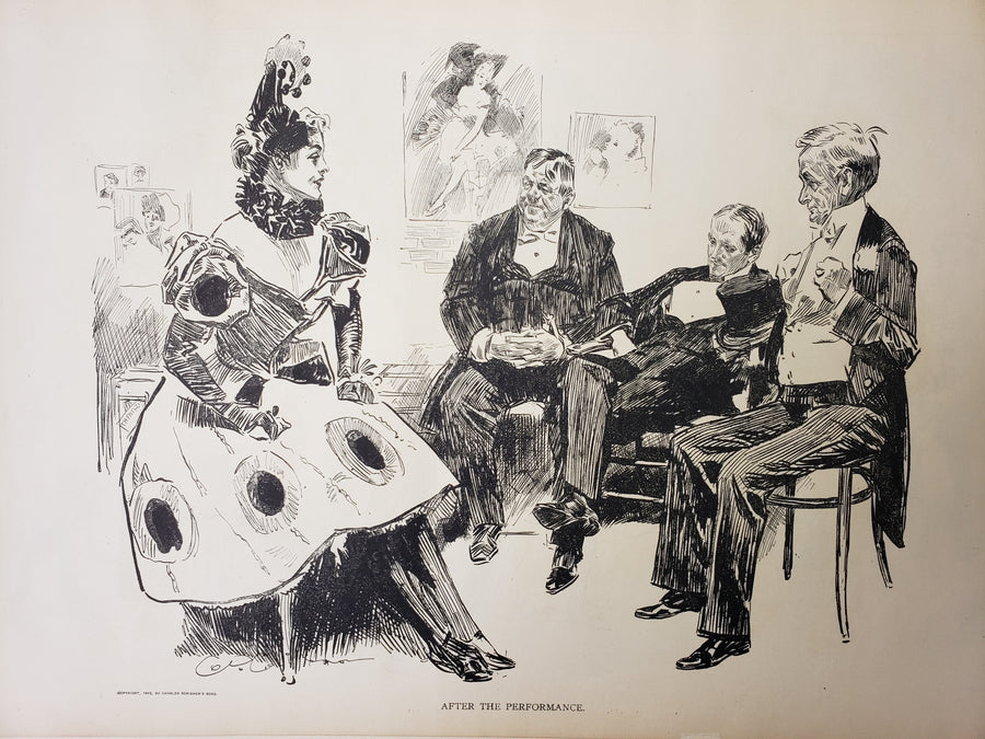 Fine Print : After the Performance - 1906 by Charles Dana Gibson