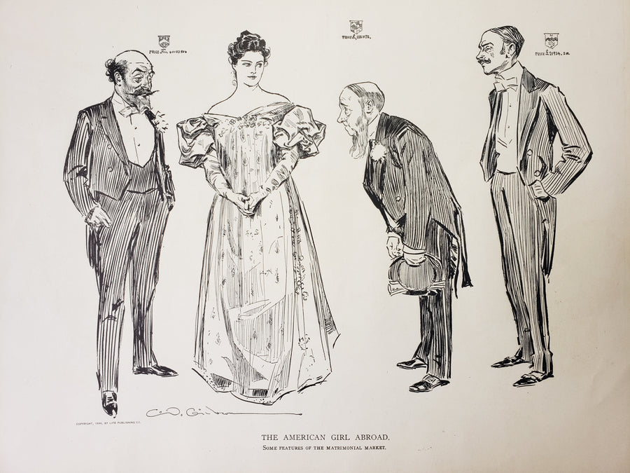 The American Girl Abroad - Some Features of the Matrimonial Market by: Charles Dana Gibson, 1906