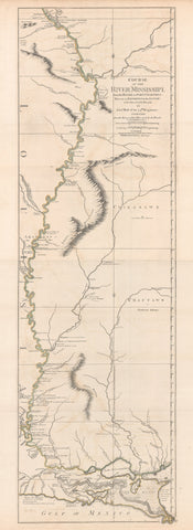 1775Course of the River Mississippi from the Balise to Fort Chartres: Taken on an expedition to the Illinois in the latter end of the Year 1765.