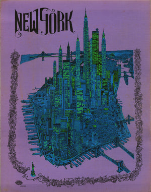 New York by: David Schiller of Sparta Graphics 1968 - nwcartographic.com