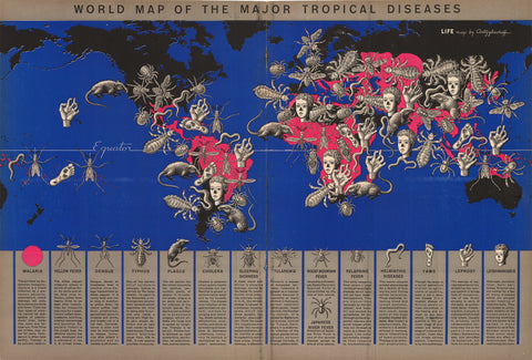 1944 World Map of the Major Tropical Diseases