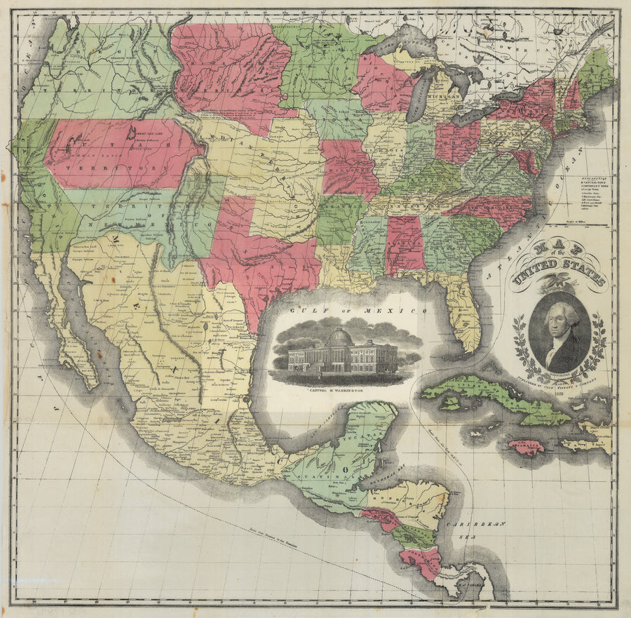 1851 Map of the United States,