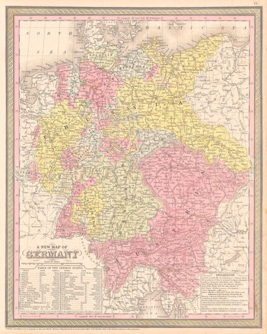 1850 A New Map of Germany