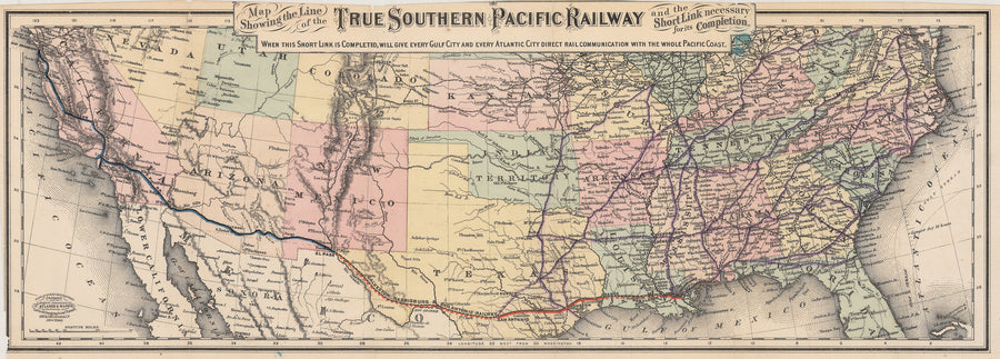 1881 True Southern Pacific Railway