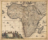 Authentic Antique Map of Africa: Totius Africae Accuratissima Tabula By: Justus Danckerts Date: 1680