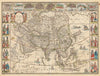 Authentic Antique Map of Asia: Asia Noviter Delineata By: Willem Blaeu Date: 1635 (circa) Amsterdam