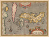 Authentic Antique Map of Japan and Korea: Japoniae Insulae Descriptio Ludoico Teisera Auctore By: Abraham Ortelius Date: 1603 (published) Antwerp