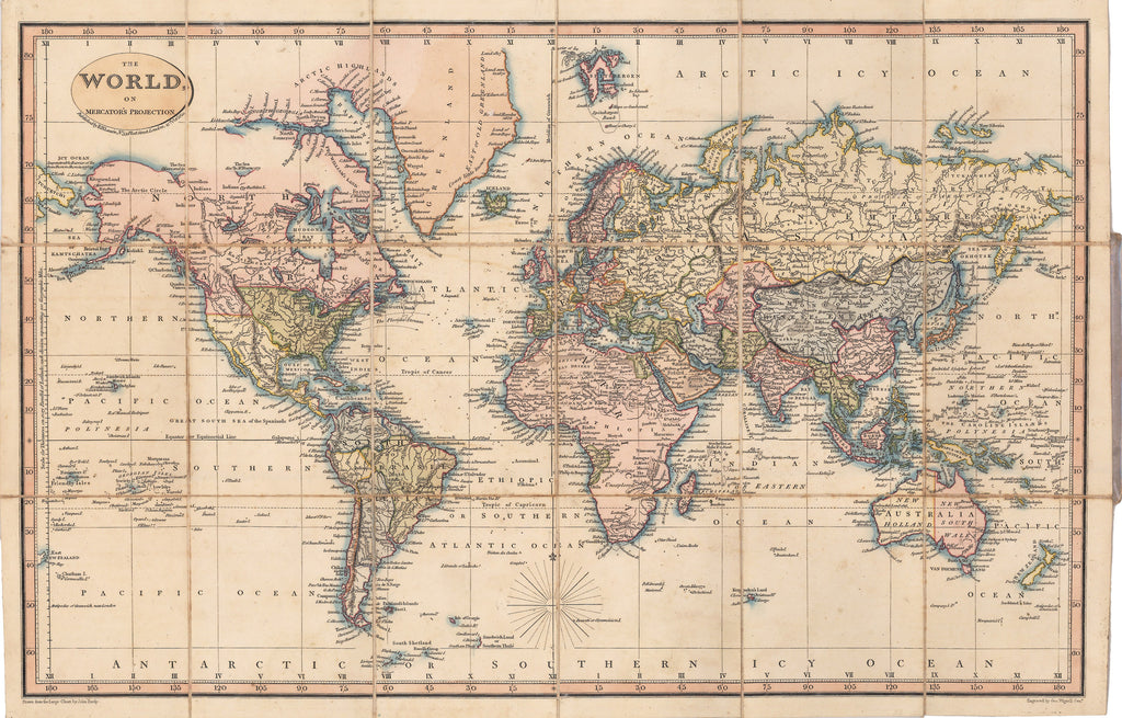 1822 The World on Mercator's Projection