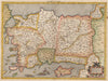 Authentic Antique Map of Turkey or Asia Minor: Asiae I Tab By: Gerard Mercator Date: 1584 (circa) Amsterdam