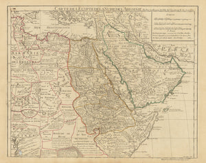 Authentic Antique Map of Egypt and the Arabian Peninsula: Carte de l'Egypte de la Nubie de l'Abissinie… By: Delisle / DezaucheDate: 1780 (dated) Paris