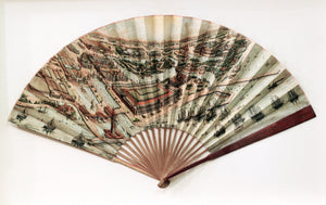 Authentic Antique Print: World's Columbian Exposition Promotional Hand Fan Date: 1892 (dated) Dimensions: 13 x 22.5 inches (33 x 57.15 cm)