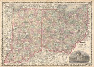 1862 Johnson's Ohio and Indiana