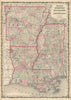 Authentic Antique Map of Arkansas, Mississippi and Louisiana. Johnson's Arkansas, Mississippi and Louisiana By: Alvin J. Johnson Date: 1862 (published) New York