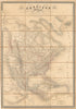 Authentic Antique Map of North America: Amerique du Nord By: Auguste Henri Dufour Date: 1845 (dated) Paris