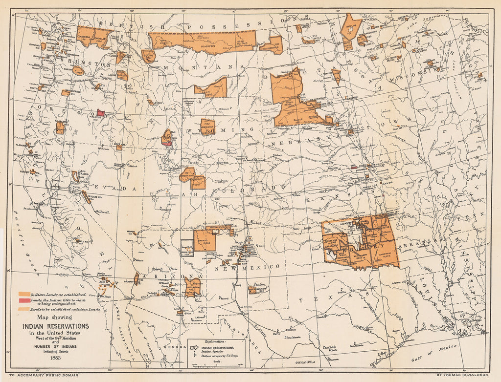 Map Showing Indian Reservations In The United States West Of - Map of us indian reservations