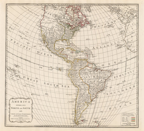1794 America divided into North and South with their Several Subdivisions and their Newest Discoveries