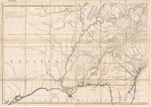 1756 - 1783 Amerique Septentrionale avec les Routes, Distances en miles, Villages et Etablissements Francois et Anglois Par le Docteur Mitchel Traduit de l'Anglois…(Lower lower left quarter only)