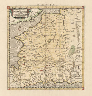 Authentic Antique Map of France: Tab. III. Europae, Galliam, Belgicam, ac Germaniae, Partem Repraesentans… By: Ptolemy / Mercator  Date: 1730 (circa) Amsterdam  Dimensions: 13.3 x 12.2 inches (31 x 33.8 cm)