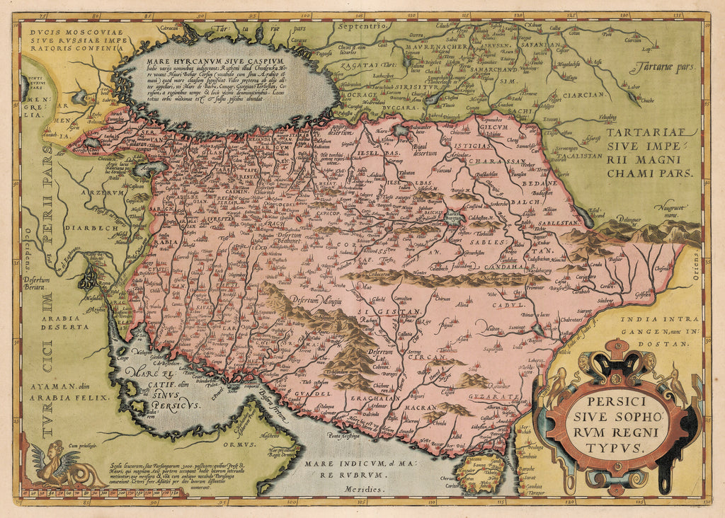 Hjbmaps Antique Map Of Persia By Abraham Ortelius Hjbmaps Com