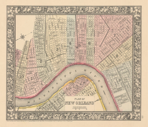 1860 Plan of New Orleans