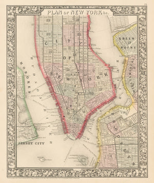 1860 Plan of New York