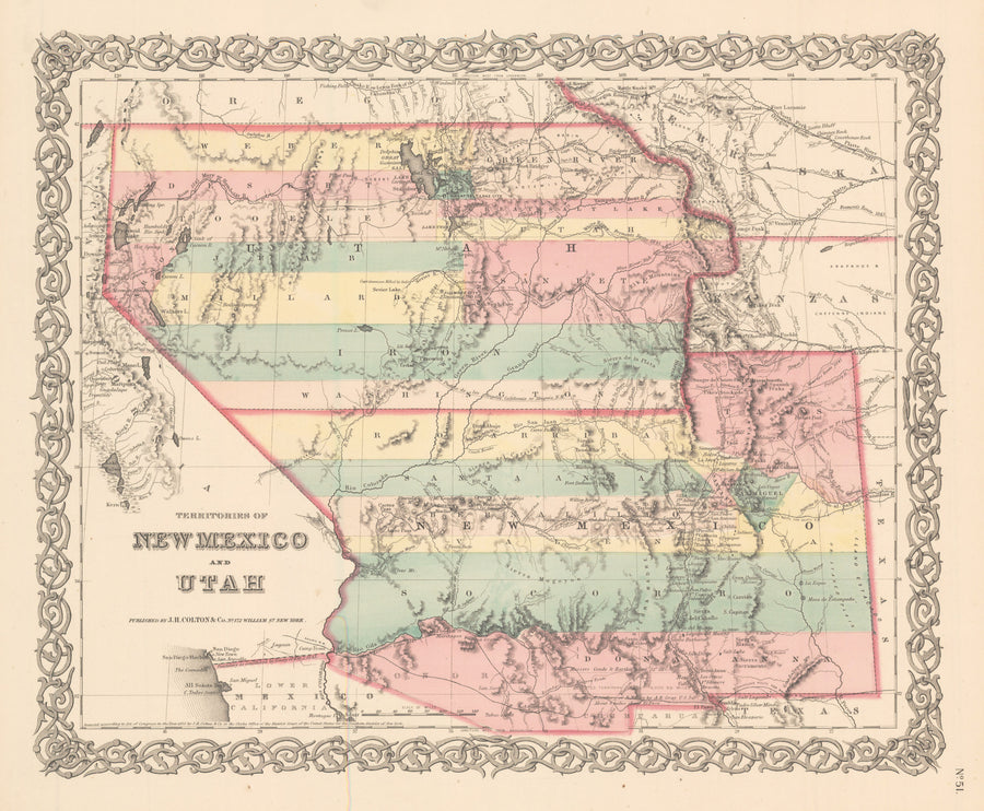 1856 Territories of New Mexico and Utah