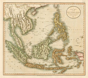 1801 A New Map of the East India Isles