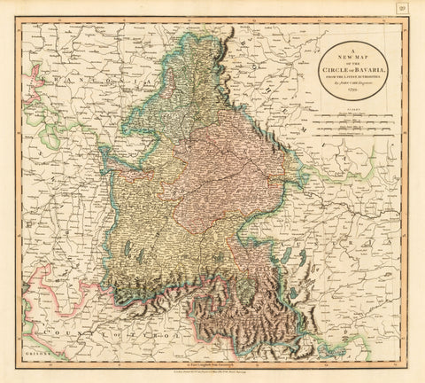 1799 A New Map of the Circle of Bavaria