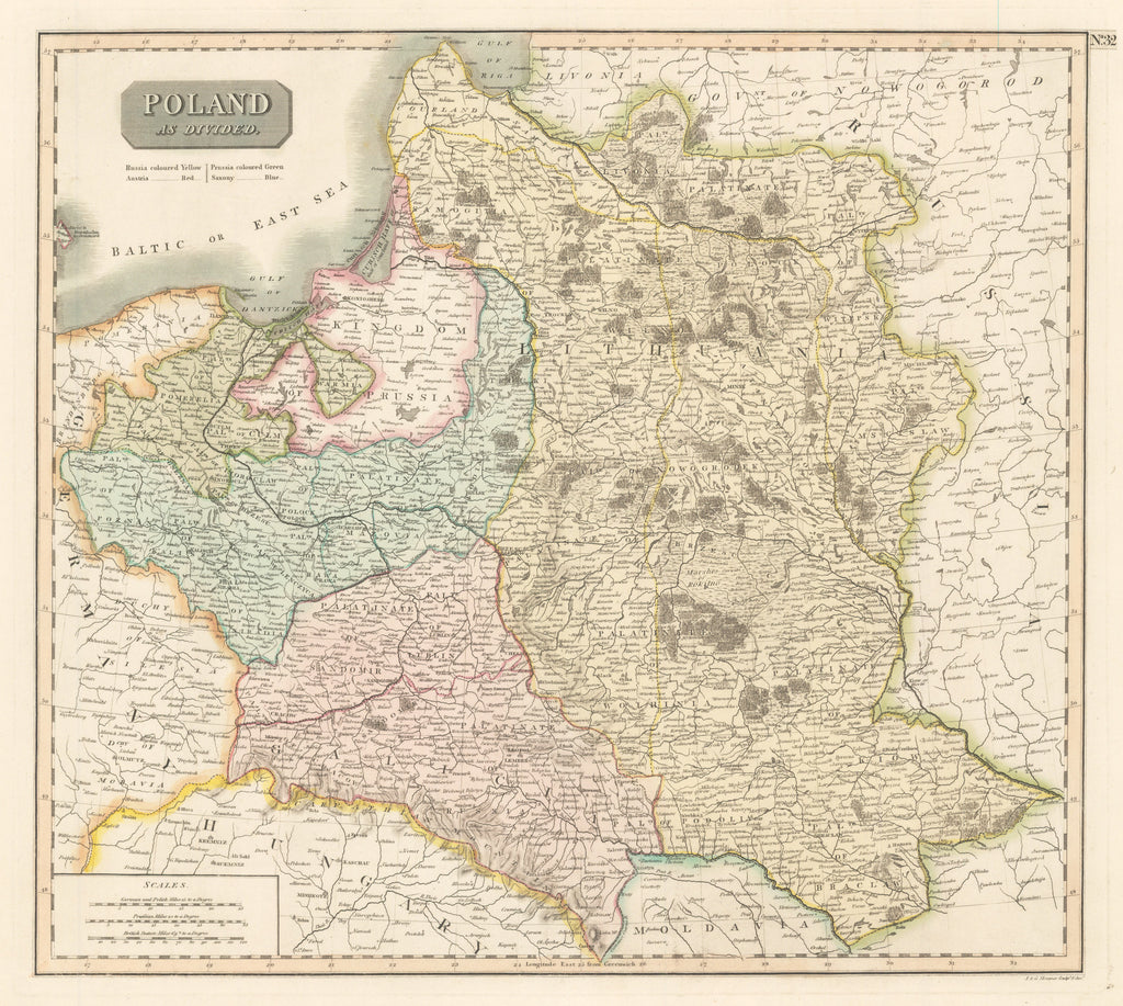 1814 Poland as Divided
