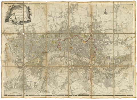 19) A Plan of the Cities of London & Westminster The Borough of Southwark and their Suburbs