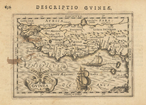 1618 Guinea (under heading: Descriptio Gvineæ.)