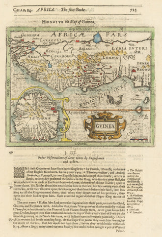 1625 Hondius his Map of Guinea.