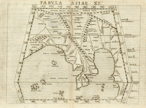 "1574 Tabvla Asiae XI [map of Bengal and Burma, ""India Extra Gangem""]"