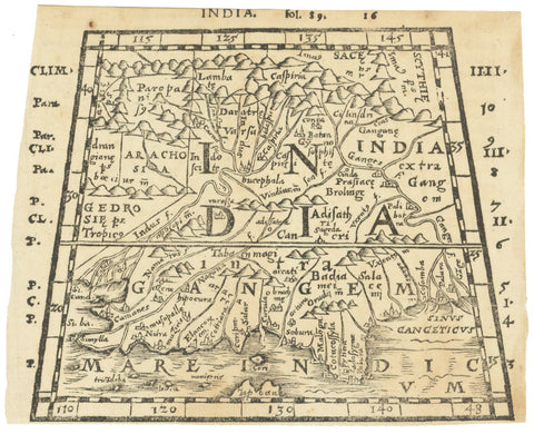 1576 India. (India intra Gangem)