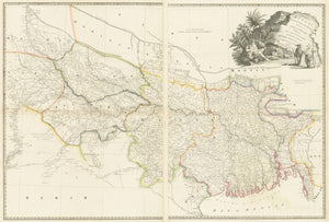 A Map of Bengal, Bahar, Oude & Allahabad with Part of Agra and Delhi Exhibiting the Course of the Ganges from Hurdwar to the Sea