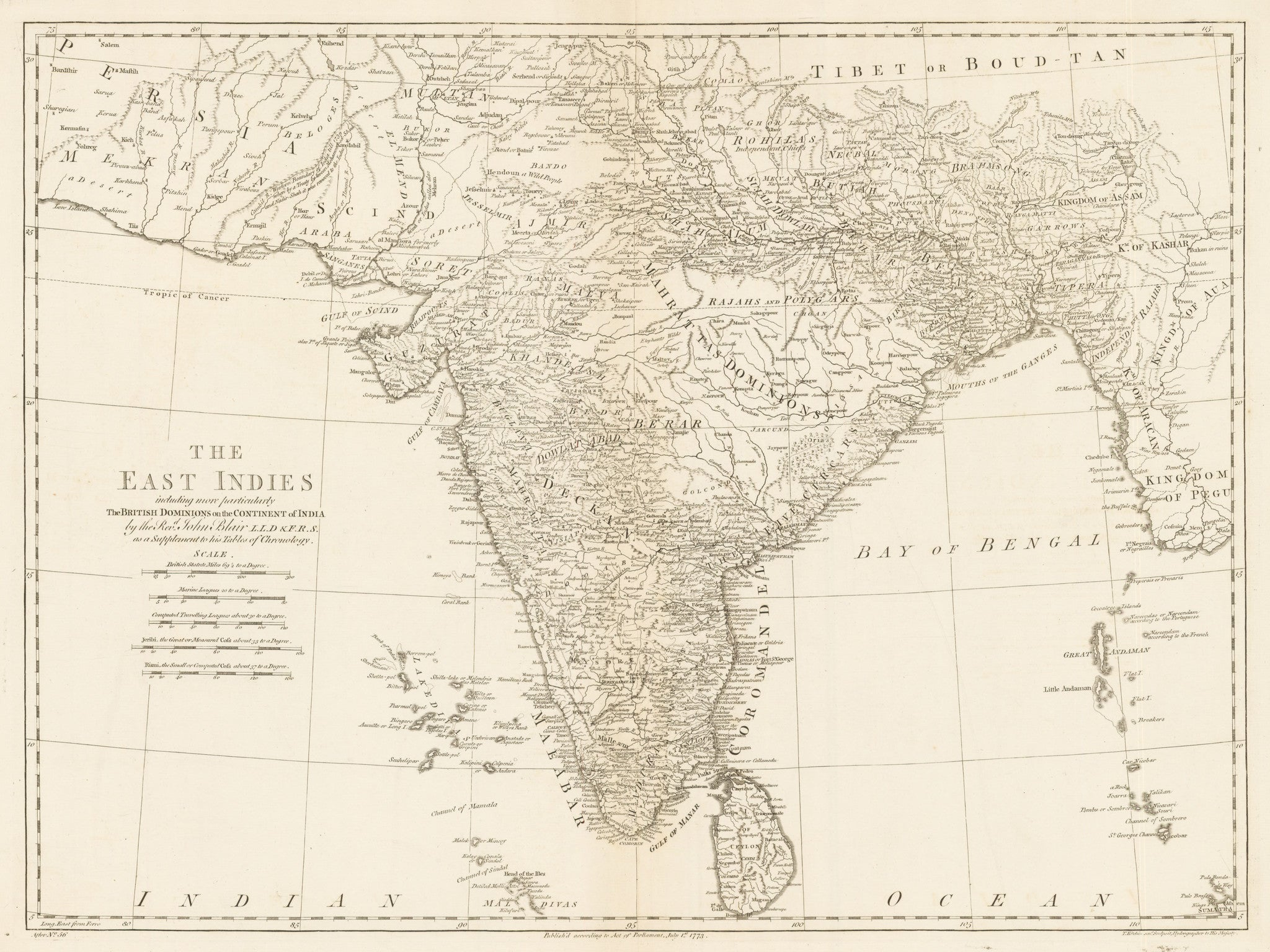The East Indies, including more particularly the British Dominions on the Continent of India