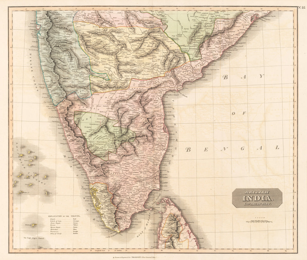 British India, Southern part