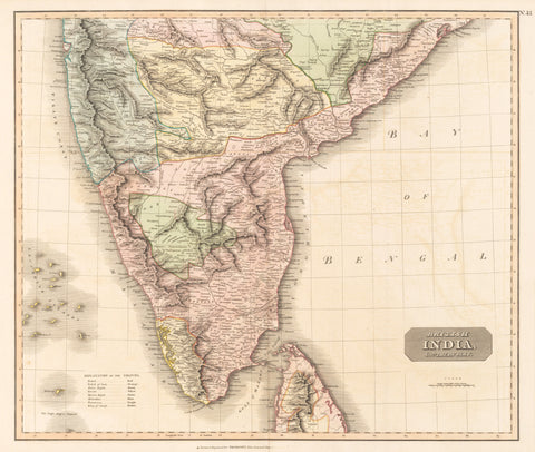 62) British India, Southern part