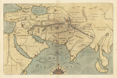 1614 [Untitled map of southern Asia and the Indian Ocean]