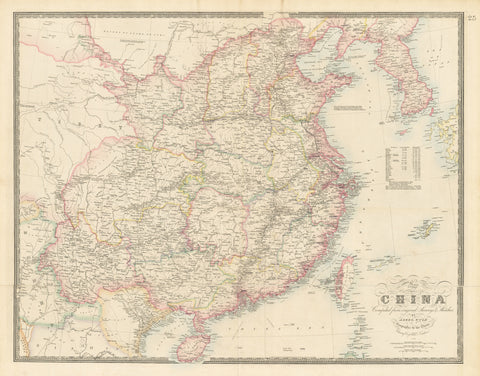 1884 Map of China Compiled from Original Surveys & Sketches
