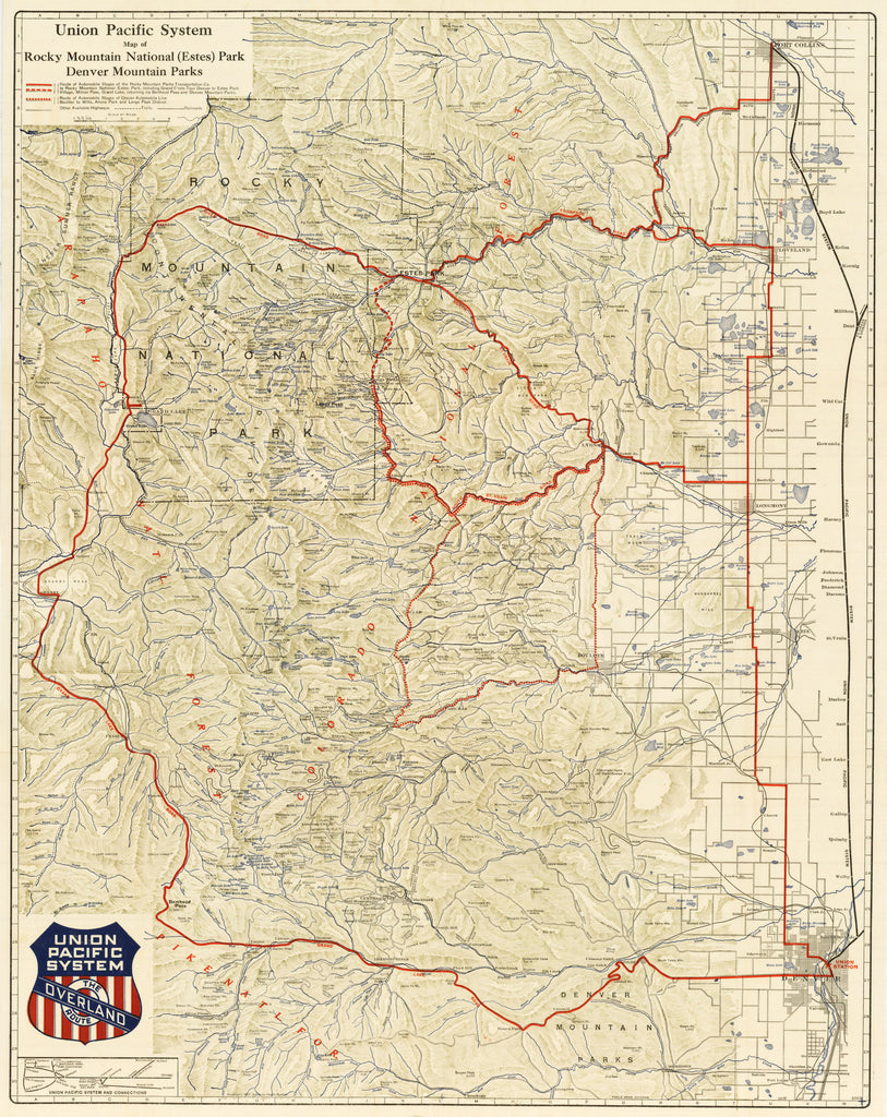 1921 Union Pacific System Map of Rocky Mountain National (Estes) Park on galena and chicago union railroad map, rock island railroad map, amtrak map, current united states railroad map, santa fe railroad map, ohio railroad map, chicago, burlington and quincy railroad map, norfolk southern railroad map, great northern railroad map, kansas city southern railroad map, railroad tracks in colorado map, wabash railroad map, burlington northern railroad map, louisiana & arkansas railroad map, b&o railroad map, soo line railroad map, indiana harbor belt railroad map, new york central railroad map, illinois railway museum map, chicago & northwestern railroad map,