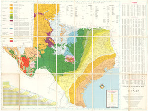 1959 Geological Highway Map of Texas