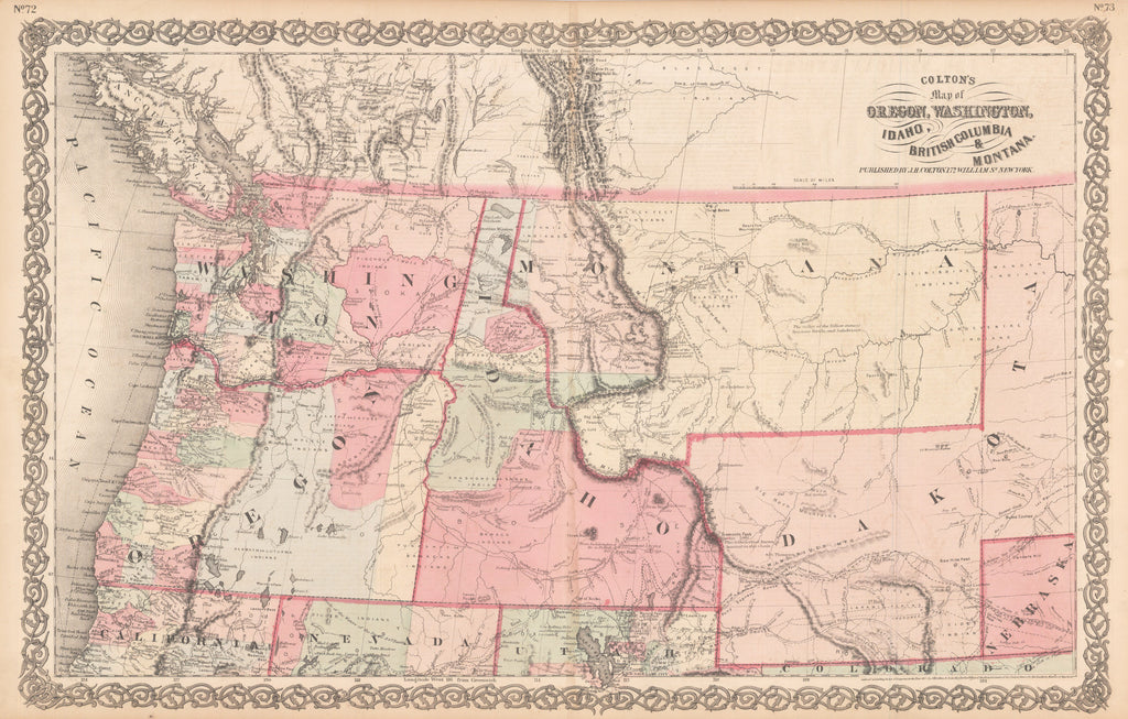Map Of Oregon Washington Idaho British Columbia Montana