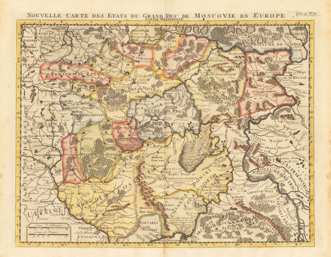 1710 Nouvelle Carte des Etats du Grand Duc de Moscovie en Europe.