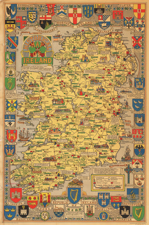 1969 Historical Map of Ireland
