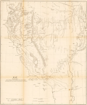 Map Detailing the March of L. Col. Steptoe from Ft. Leavenworth to California in 1854 and 1855
