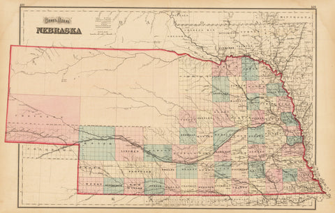 1873 Gray's Atlas Nebraska
